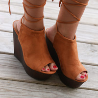 Florence Whisky Tie Up Wedges