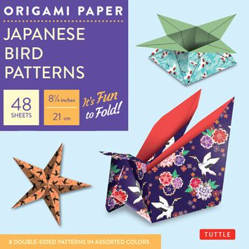 Origami Paper Japanese Bird Patterns PCK