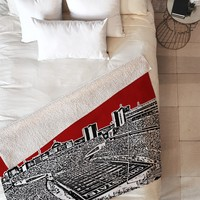 Bird Ave Ohio State Buckeyes Red Fleece Throw Blanket