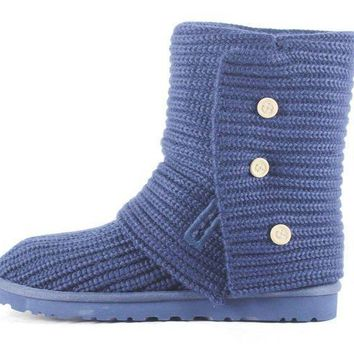 CREY1O UGG Australia for Women: Classic Cardy Peacoat Ankle Boot