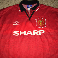 Sale!! Vintage Umbro MANCHESTER UNITED Soccer Jersey MUFC Football Shirt