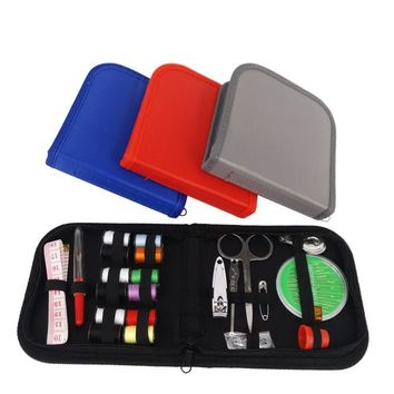Portable Needle Thread Sewing Kit Tools Travel Stitched Accessory Box
