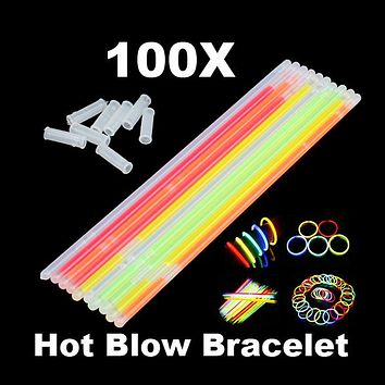 Neon Party Glow stick Glow in the Dark Toy Fluorescence Sticks Bracelets Necklaces Party Supplies Luminous Home Decor