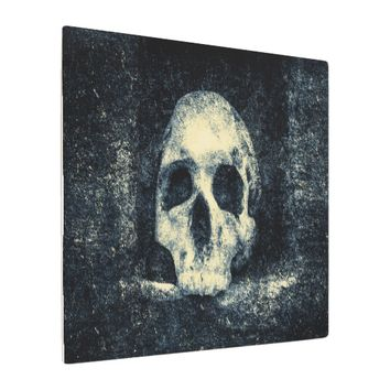 Halloween Horror Skull Metal Print