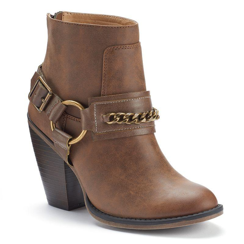 candie s s western ankle boots from kohl s