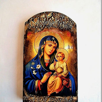 Mary and Jesus child, Religious icon, Virgin Mary art, Mother of God  icon,  Madonna and child icon, Mothers day gift, Mother and child
