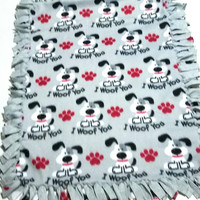 Dog Fleece  Pet Blanket I Woof You