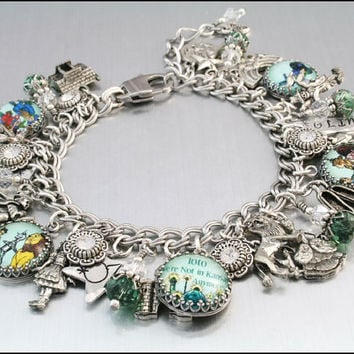 Wizard of Oz Jewelry Silver Charm Bracelet by BlackberryDesigns