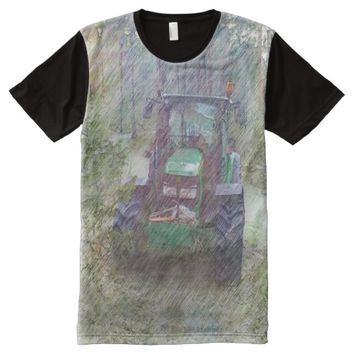 A tractor in the forest All-Over-Print T-Shirt