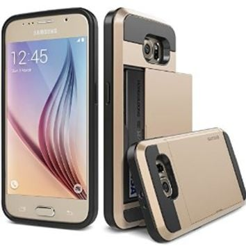 Galaxy S6 Case, Verus [Damda Slide][Shine Gold] - [Card Slot][Drop Protection][Heavy Duty][Wallet] - For Samsung Galaxy S6 SM-920 Devices