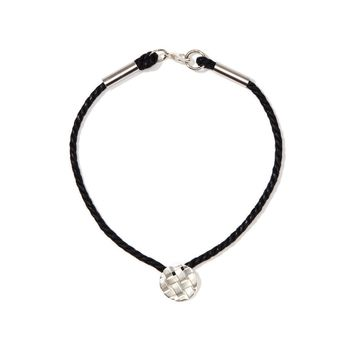 925 Silver Plated Black Cord Necklace