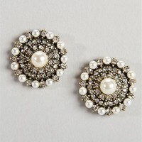 Socialite Pearl Stud Earrings