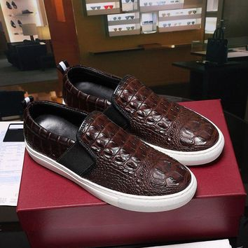 Bally Herald Men's Lamb Leather Skate Trainer In Brown Sneakers Shoes Sale