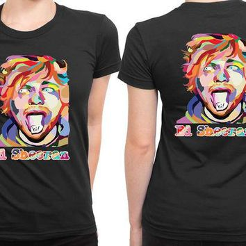 DCCKL83 Ed Sheeran Wpap Cruel 2 Sided Womens T Shirt