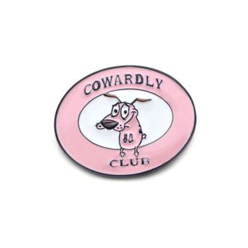 Free Cowardly Club Courage The Cowardly Dog Cartoon Network Enamel Pin Just Pay Shipping