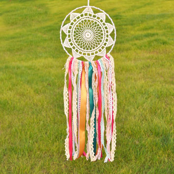 New Fashion Gift India Lace Dreamcatcher Wind Chimes Colorful Pendant Dream Catcher Regalo VD6010706
