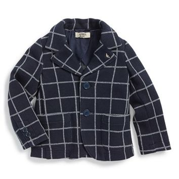 Infant Boy's Armani Junior Check Print Blazer,