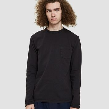 Velva Sheen / Tubular L/S Pocket Tee in Black