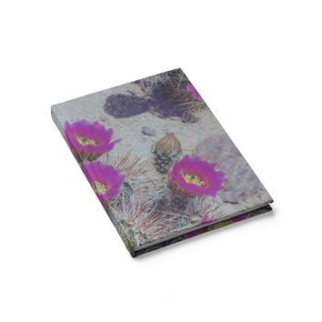 Cactus Flowers - 128 Page Hardcover Lined Journal