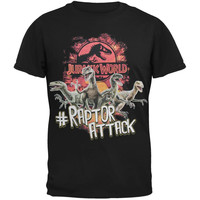 Jurassic World - Hashtag Raptor Attack Shirt Youth T-Shirt