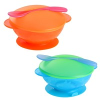 Baby Learning Dishes With Suction Cup Assist Food Bowl