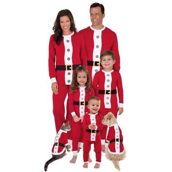 456 Santa Family Matching Pajamas Set