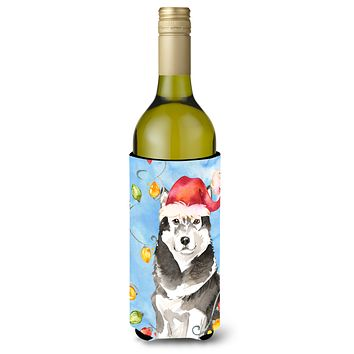 Christmas Lights Alaskan Malamute Wine Bottle Beverage Insulator Hugger CK2484LITERK