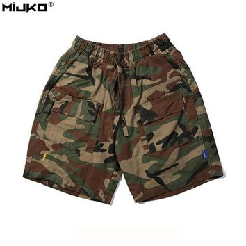 Camouflage Casual Shorts Men 2017 Summer New Fashion Beach Shorts Man Solid Colors Black Green Army Military Camo Short Pant XXL