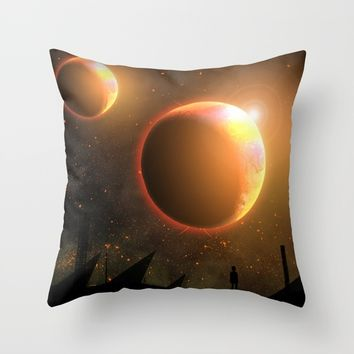 Dreams Throw Pillow by Moonlit Emporium