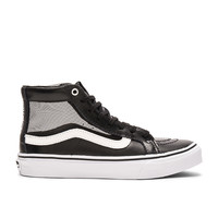 Vans Mesh Sk8-Hi Slim Cutout Sneaker in Black & White
