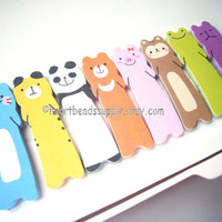 Cute animals double sided sticky notes, post it, school office stationery id1370088 kawaii paper goods, memo pad, page marker