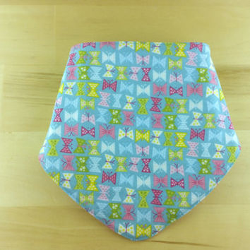 Baby Girl Bandana Bib~ Butterflies and Flowers ~ Reversible
