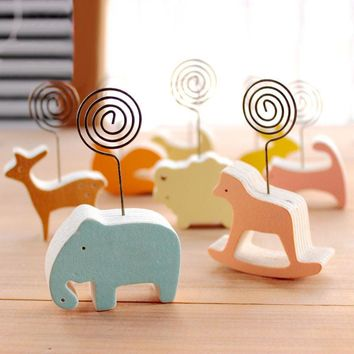 1 x Cute animals photos clip &photo holder wooden message note clip pictures photo holder Home decor Arts crafts gift