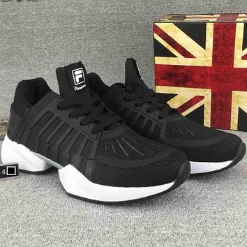 FILA autumn models super light breathable running shoes F-CSXY black