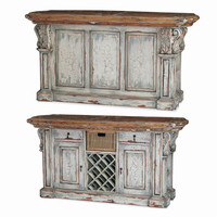 Bramble Roosevelt Kitchen Island w/Corbels and Basket 24561