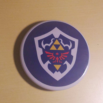 Hylian Shield - The Legend Of Zelda inspired Button