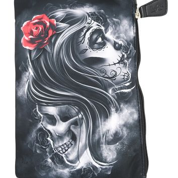 Liquor Brand Cosmetic Bag Heaven & Hell Tattoo Art makeup purse