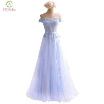 Bridesmaid Dresses The Sweet Light Blue Lace Cap Sleeve Banquet Elegant Long Party Formal Dresses