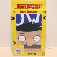 Licensed cool Bob's Burger Belcher Adult Kitchen Apron Gentleman Down South Bad Boy Mouth NWT