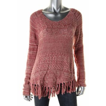 American Rag Womens Marled Scoop Neck Pullover Sweater