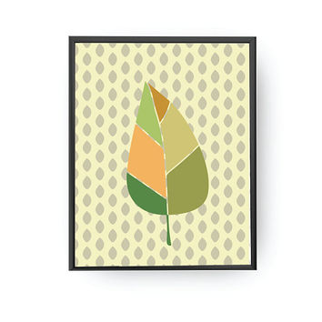 Summer Leaf, Kids Print, Botanical Art, Kids Room Decor, Educational Poster, Plant Poster, Classroom Art, Nursery Decor, Leaf Illustration
