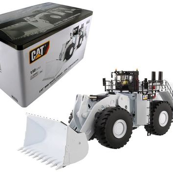 CAT Caterpillar 994K Wheel Loader Coal Bucket in White High Line 1:50