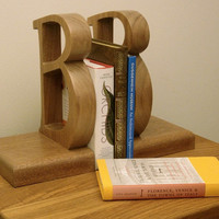 Bookends with a bold B design