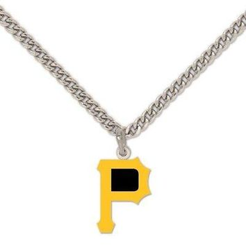 Licensed Pittsburgh Pirates Official MLB Necklace Pitt by Wincraft 503169 KO_19_1