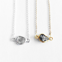 Rough Diamond Framed Necklace + Options