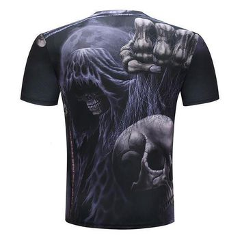 Harajuku Printed T Shirts Men 3d T Shirts Skull Funny Costume Short Sleeve Summer Tshirt Male Round Neck Fashion Quality Top Tee