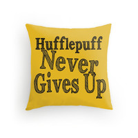 Hufflepuff Harry Potter Throw Pillow 16x16