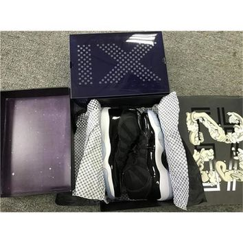 Double Box Air Jordan Retro 11 Space Jam Xi Retro Black Concord 2016 Og 11s Top Quality With Original Box Running Sneakers 378037 - Beauty Ticks-003