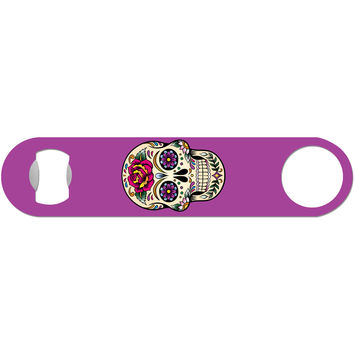 Day of the Dead Skull - Purple Bottle Opener