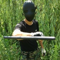Antiriot Full Protection Safety Impact Resistance Face Mask Airsoft Paintbal BB Gun Anti Riot, Black